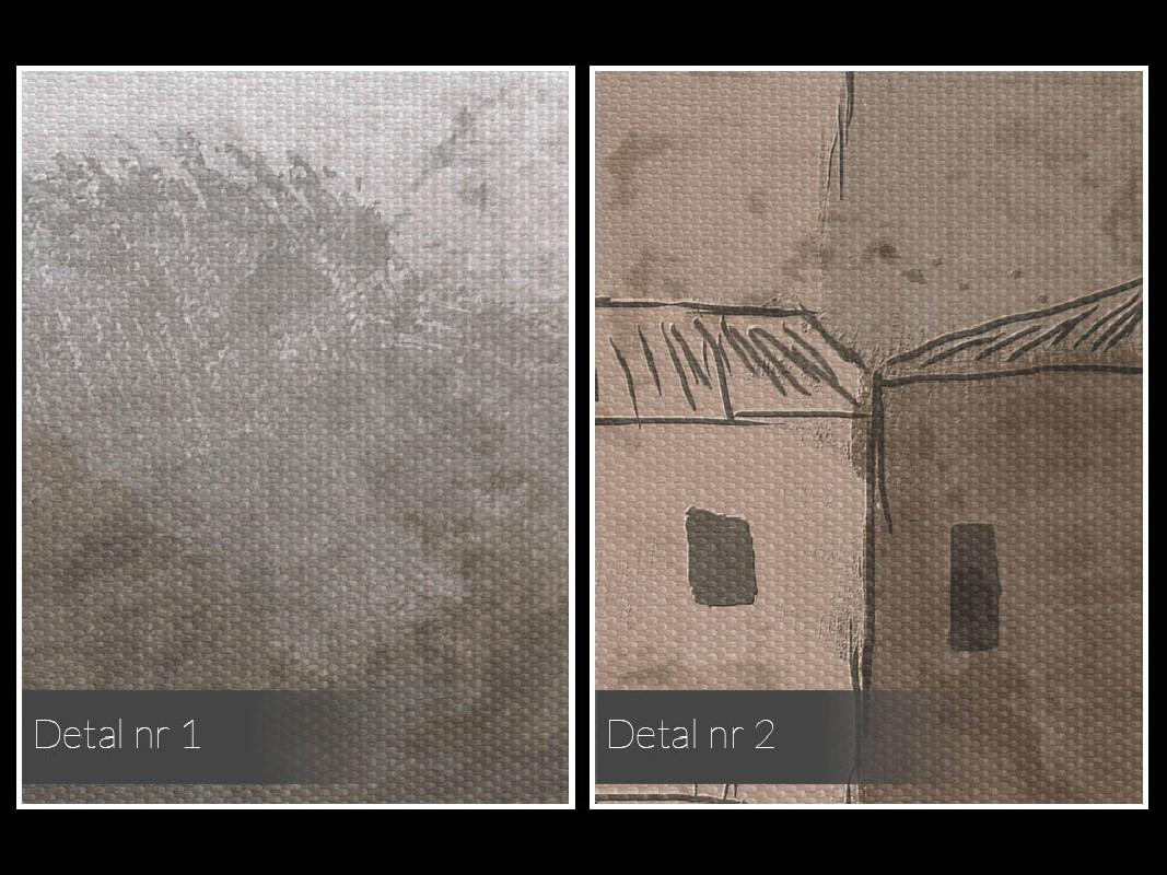 Cicha osada - nowoczesny obraz na płótnie - 120x80 cm
