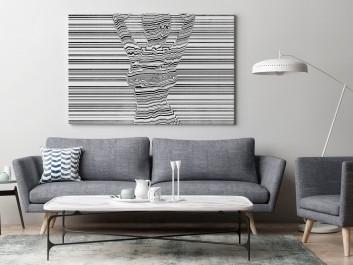 Gorąca linia - nowoczesny obraz do sypialni