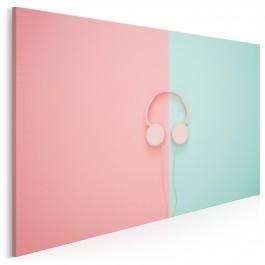 Pastelowe disco - nowoczesny obraz na płótnie