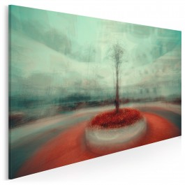 Szkarłatna niwa - fotoobraz do salonu - 120x80 cm