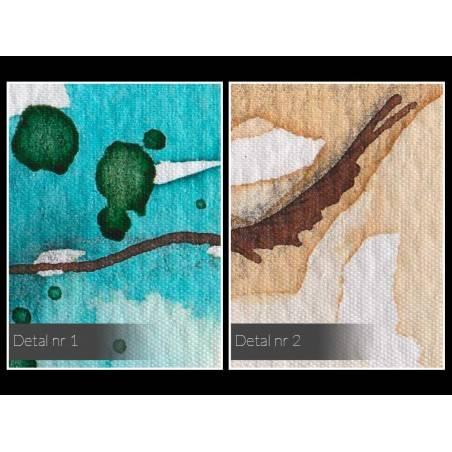 Szafirowe gracje - nowoczesny obraz na płótnie - 120x80 cm