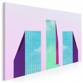 Architektoniczne podium - zdjęcie na płótnie