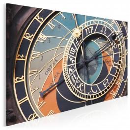 Praski zegar astronomiczny - fotoobraz do sypialni - 120x80 cm