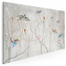 Leśny chór - nowoczesny obraz do sypialni - 120x80 cm