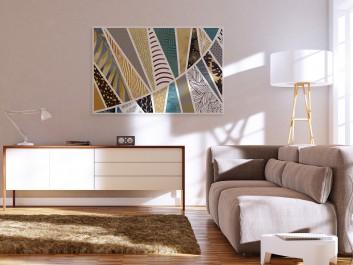 Parabola stylu - nowoczesny obraz do salonu - 120x80 cm