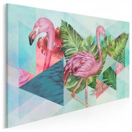 Flamin-go! - nowoczesny obraz na płótnie - 120x80 cm