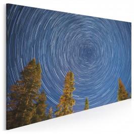 Księżycowa magia - nowoczesny obraz na płótnie - 120x80 cm