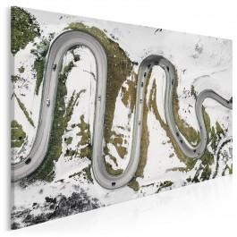 Slalom gigant - fotoobraz do sypialni - 120x80 cm