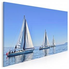 Białe żagle - fotoobraz na płótnie - 120x80 cm
