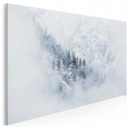 Śnieżne kotły - nowoczesny obraz na płótnie - 120x80 cm