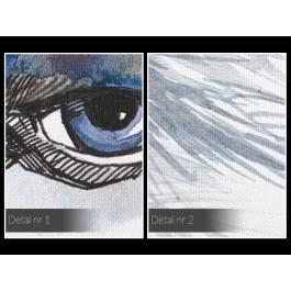 Pióropusz spojrzeń - nowoczesny obraz na płótnie