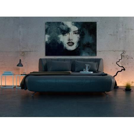 Atramentowe zaklęcie - nowoczesny obraz na płótnie - 120x80 cm