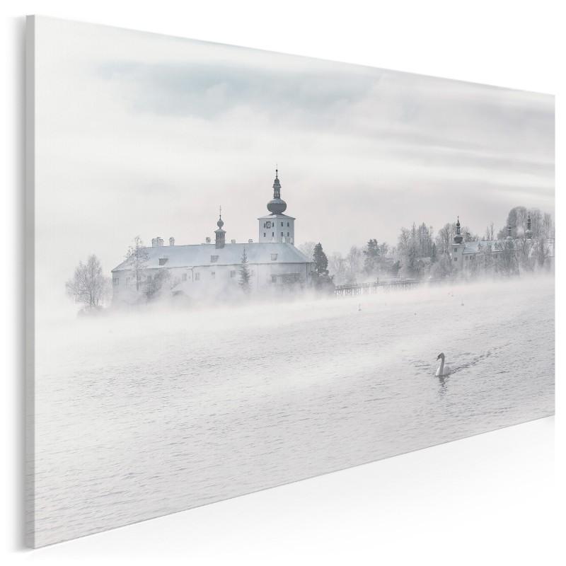 Jezioro łabędzie - zdjęcie na płótnie - 120x80 cm
