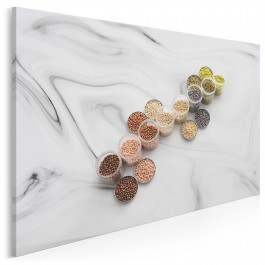 Perły i marmury - fotoobraz do kuchni