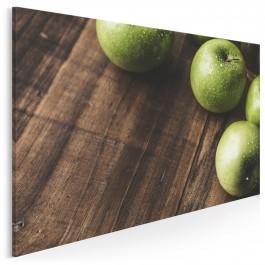 Zielone jabłuszko - fotoobraz do kuchni - 120x80 cm