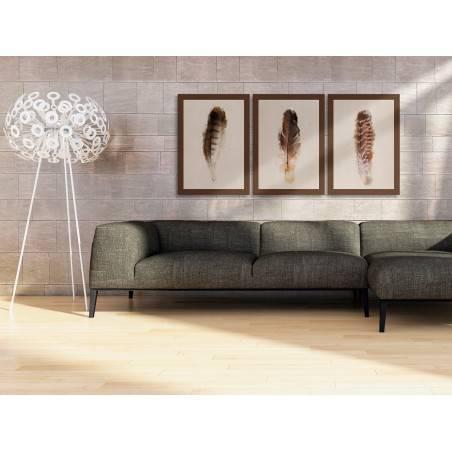 Urok ptasich piór - nowoczesny obraz na płótnie - 3szt. 50x70 cm