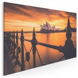 Koncertowe czerwienie Sydney - fotografia na płótnie - 120x80 cm