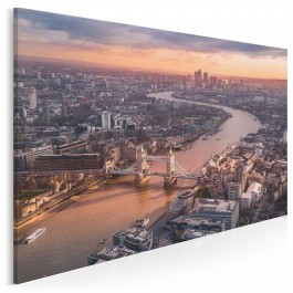 Tower Bridge z lotu ptaka - zdjęcie na płótnie