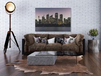 Bursztynowe miasto - fotoobraz do salonu