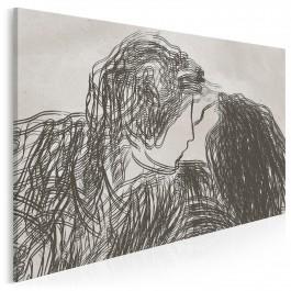 Pierwsza miłość - nowoczesny obraz na płótnie - 120x80 cm