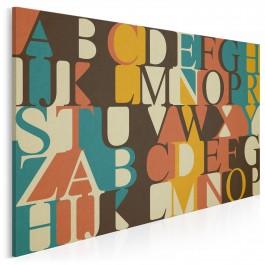 Słowo w słowo - nowoczesny obraz do sypialni - 120x80 cm