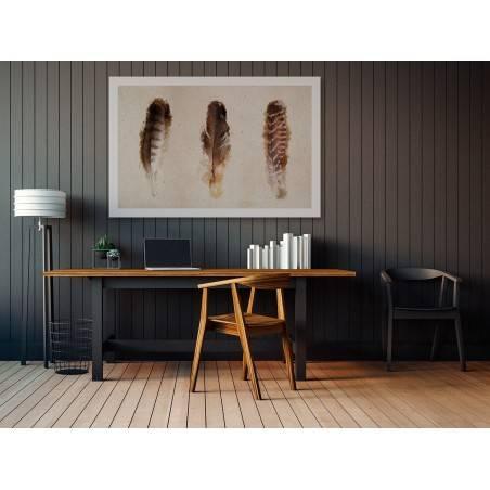 Lekkość ptasich piór - nowoczesny obraz na płótnie - 120x80 cm