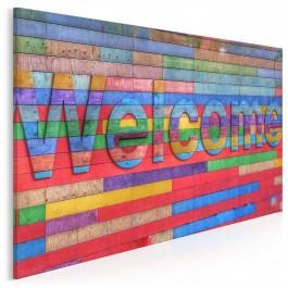 Welcome - nowoczesny obraz na płótnie - 120x80 cm