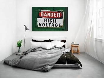 Danger - high voltage - fotoobraz do sypialni - 120x80 cm