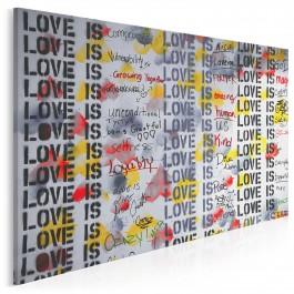 100 kolorów miłości - fotoobraz do salonu - 120x80 cm