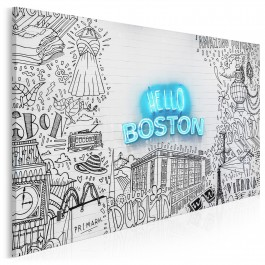 Hello Boston - zdjęcie na płótnie - 120x80 cm