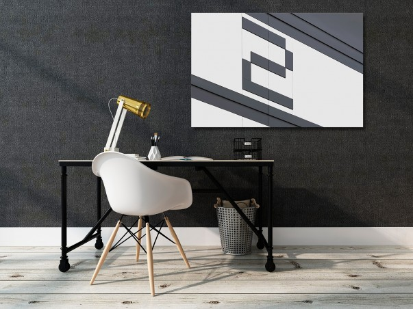 Number 2 - nowoczesny obraz do salonu - 120x80 cm