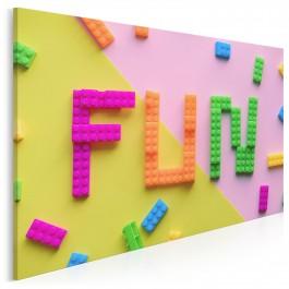 Fun - fotoobraz na płótnie - 120x80 cm