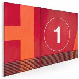 Number 1 - nowoczesny obraz do sypialni