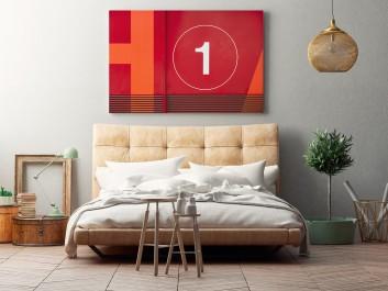 Number 1 - nowoczesny obraz do sypialni - 120x80 cm
