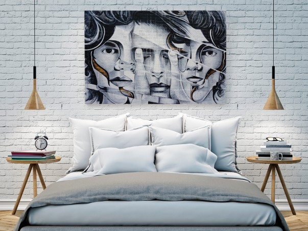 Twarzą w twarz - fotoobraz do sypialni - 120x80 cm