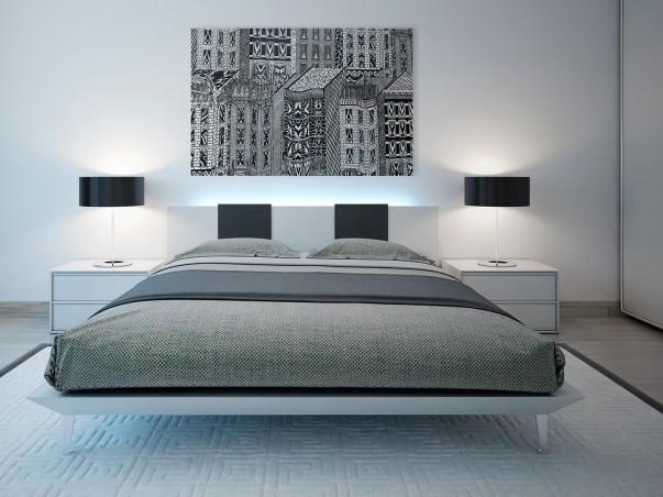 Kraina dreszczowców - nowoczesny obraz na płótnie - 120x80 cm