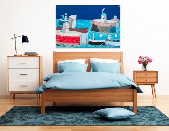 Parostatki - fotoobraz do sypialni - 120x80 cm