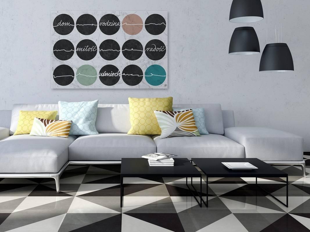 Życiowe kredo - nowoczesny obraz do salonu - 120x80 cm