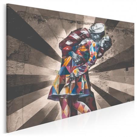 Pocałunek na Times Square - fotoobraz do salonu - 120x80 cm