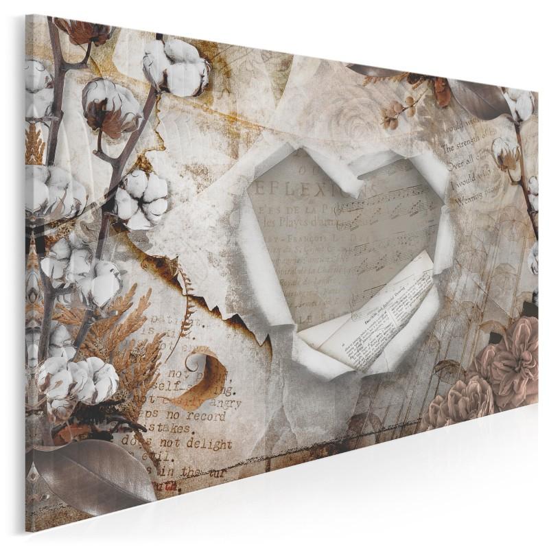 Bawełniane gody - nowoczesny obraz na płótnie