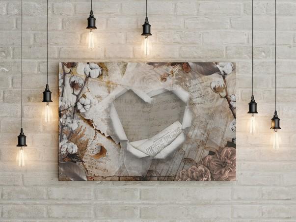 Bawełniane gody - nowoczesny obraz na płótnie - 120x80 cm