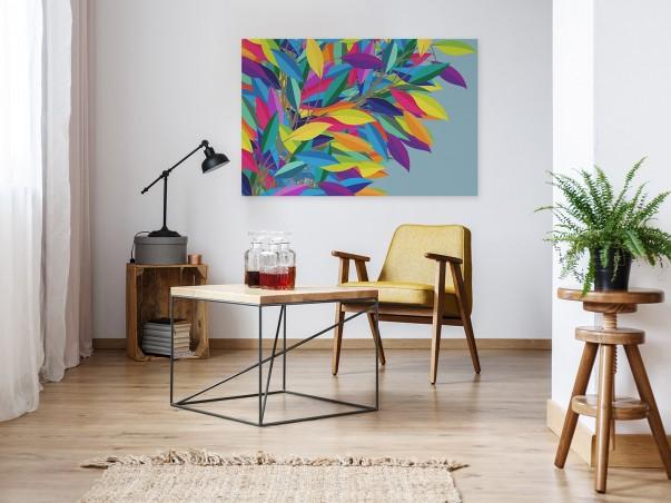 Listowie - nowoczesny obraz na płótnie - 120x80 cm