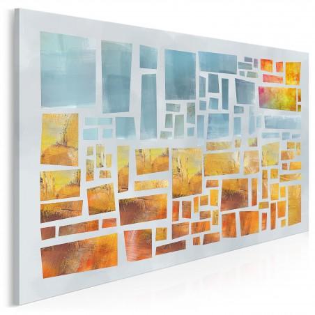 Etiuda słońca - nowoczesny obraz na płótnie - 120x80 cm