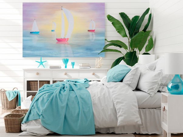 Okiełznać wiatr - nowoczesny obraz do sypialni - 120x80 cm