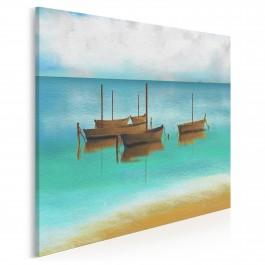 Za horyzont - nowoczesny obraz do salonu - 80x80 cm