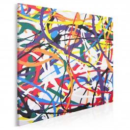 Ścieżki życia - nowoczesny obraz do salonu - 80x80 cm