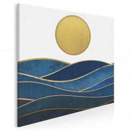 Atramentowe ukojenie - nowoczesny obraz do sypialni - 80x80 cm