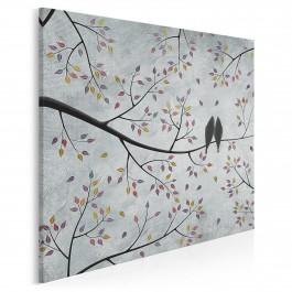 Wolni w miłości - nowoczesny obraz na płótnie - 80x80 cm