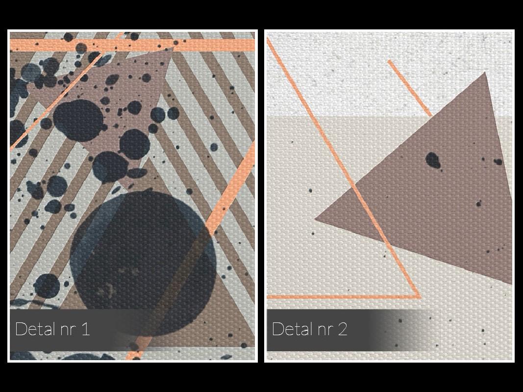 Dekonstrukcja - nowoczesny obraz na płótnie - 80x80 cm