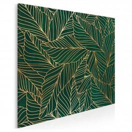 Szmaragdowy kobierzec - nowoczesny obraz do sypialni - 80x80 cm
